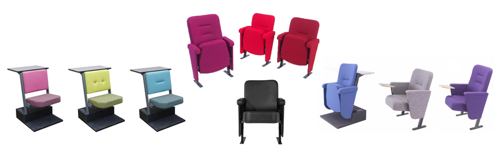Range of fixed seating for theatres, lecture theatres and stadiums by Evertaut