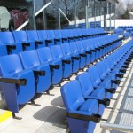 Evertaut's VIP stadium seating in blue vinyl
