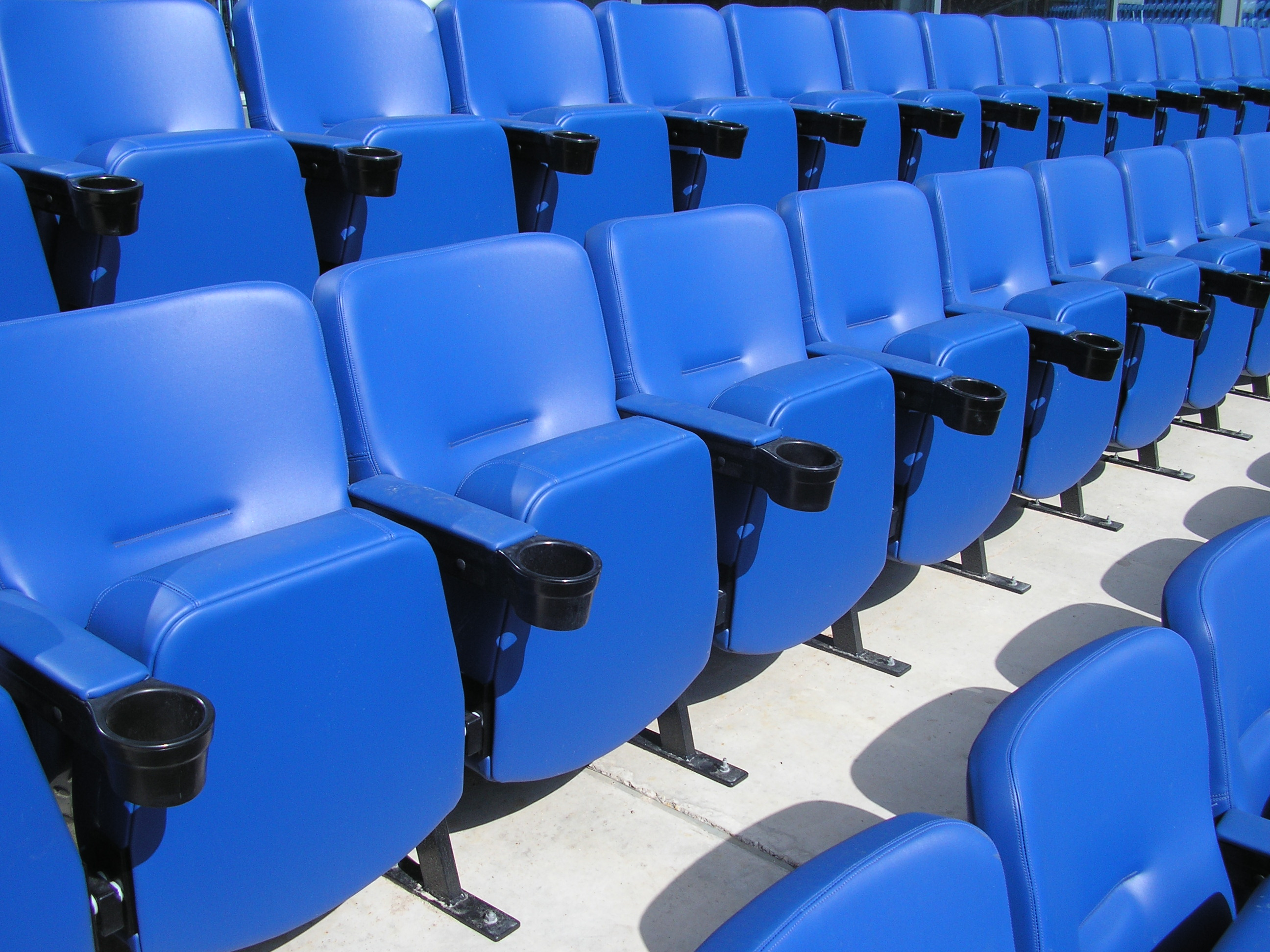 alamy rows and stadium photo chairs white in blue chair stock