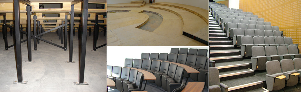 Tiered Seating structures manufactured by Evertaut Ltd