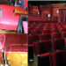 Theatre seats shown before and after refurbishment