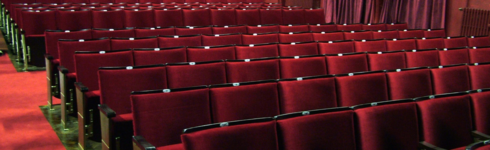Theatre seating refurbished by Evertaut Ltd