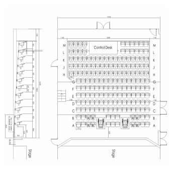 Seating plan at Carnegie Theatre