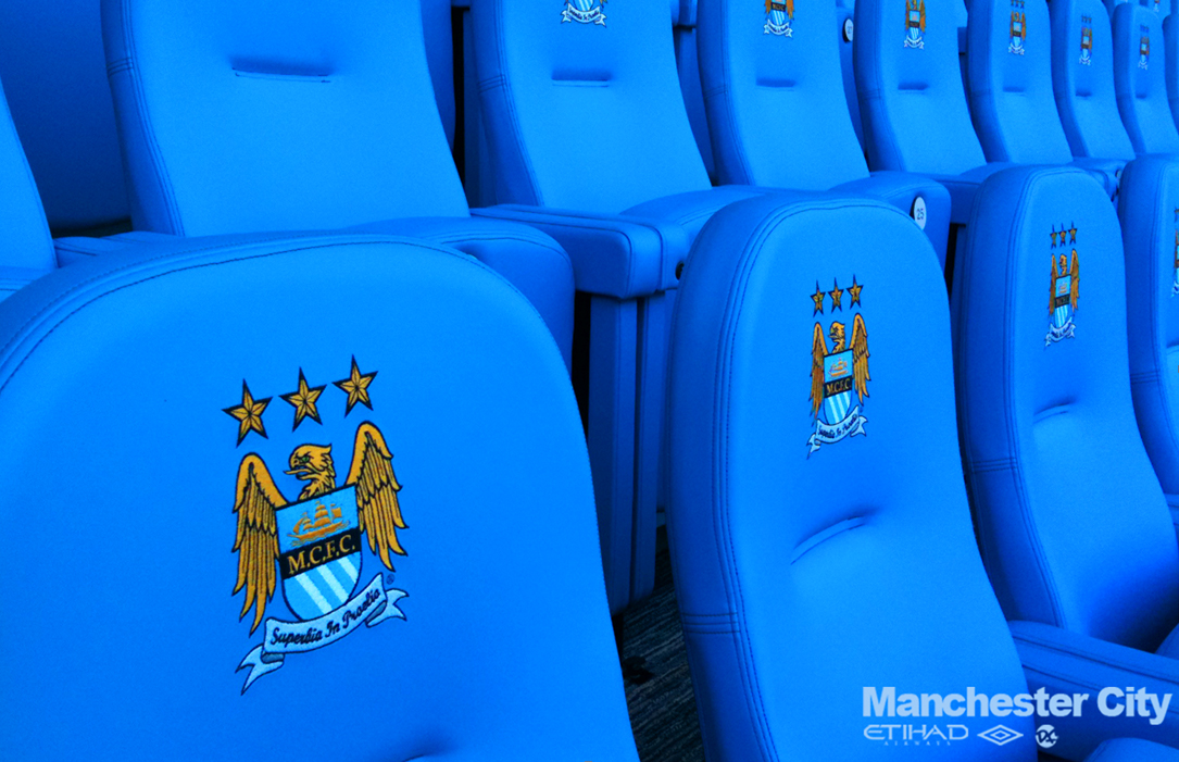 Luxury stadium seats at Manchester City FC