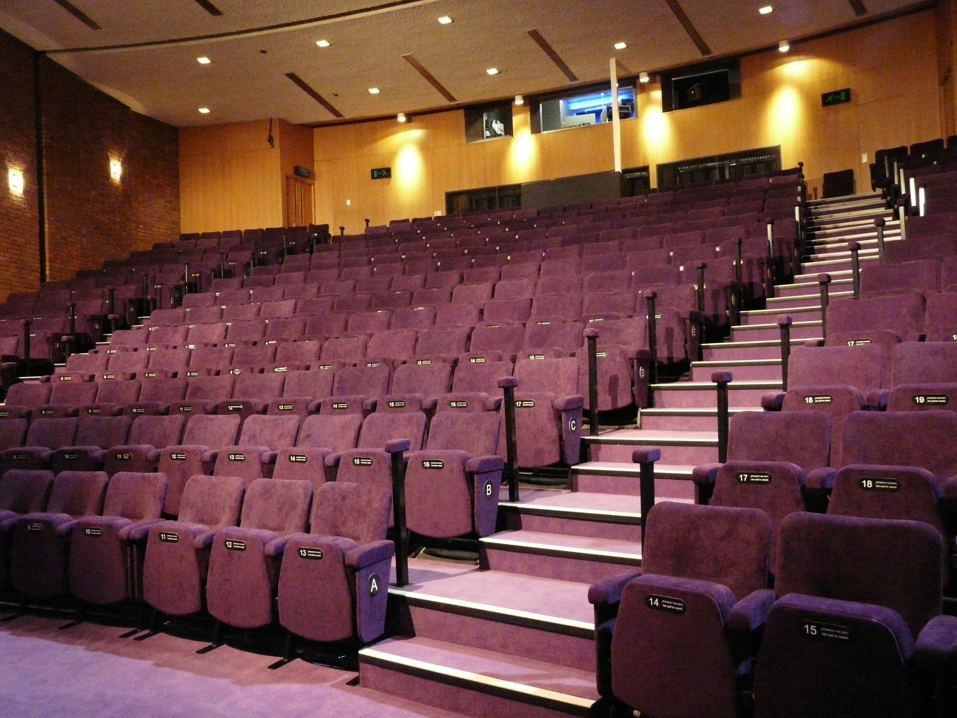 Evertaut Orion Theatre Seating in auditorium at The Core Theatre