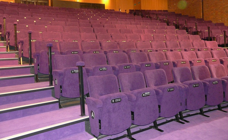 Auditorium in The Core Theatre after refurbishment with new seating