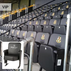 VIP stadium seats in football stadium