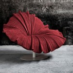 red-bloom-chair