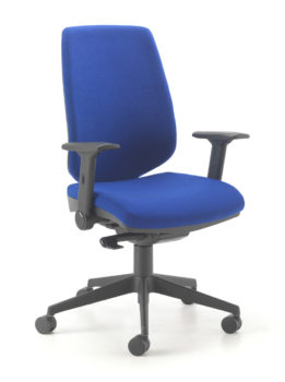 Supportive high back office chair in blue