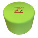 Green drum shaped break-out seat with embroidered logo
