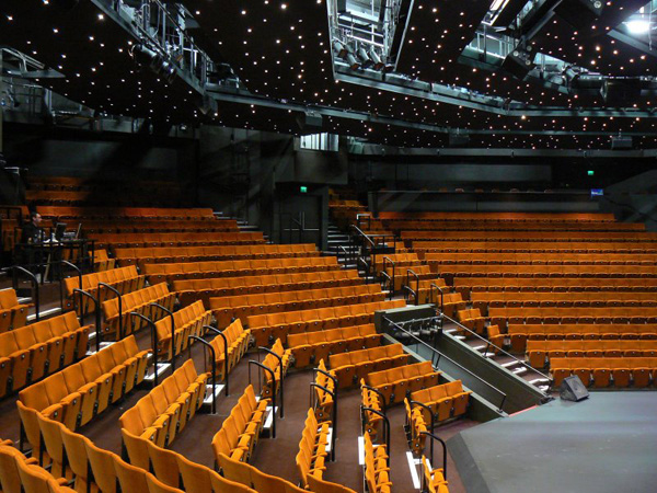 Auditorium at The Crucible theatre in Sheffield with seating refurbished by Evertaut Ltd