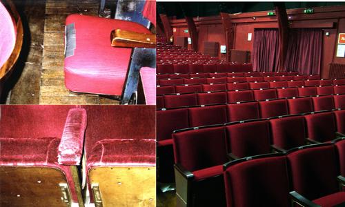 Theatre cinema seating refurbishment evertaut theatre seats shown before and after refurbishment freerunsca Gallery