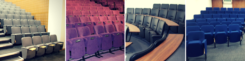 Range of auditorium seating for use in religious buildings