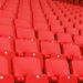 Stadium seating in red vinyl