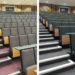 Lecture theatre seating at Warwick University before and after refurbishment by Evertaut Ltd
