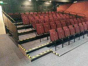 Original seating at Formby Little Theatre
