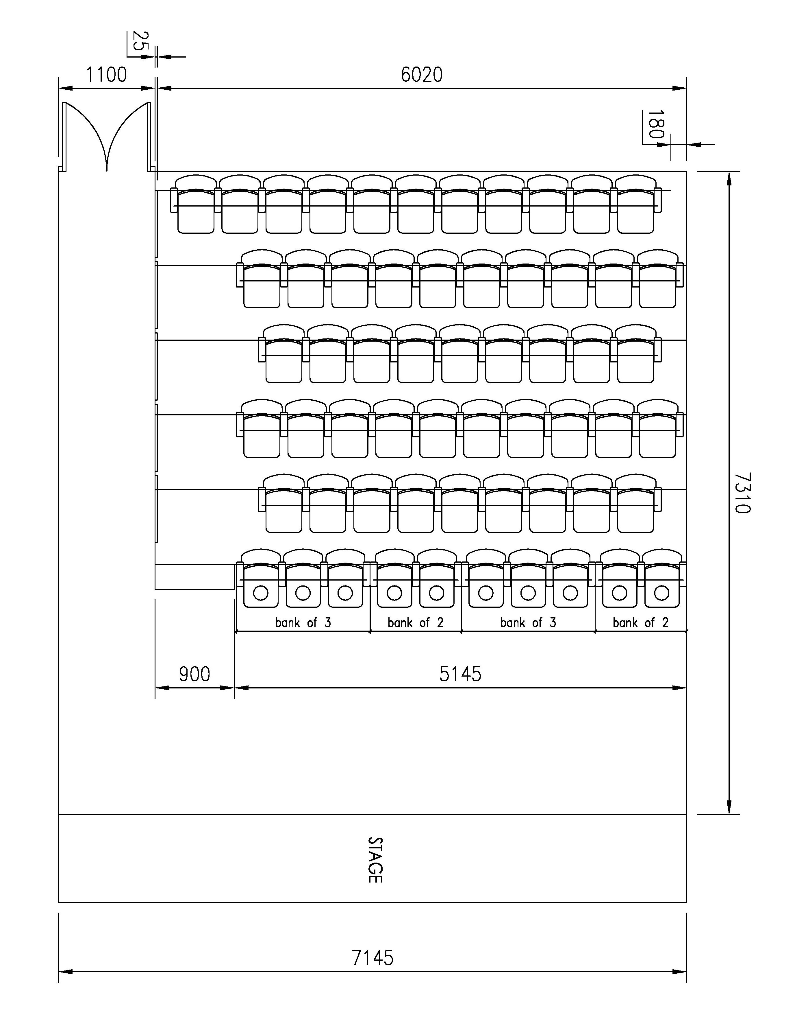 Seating plan at Formby Little Theatre