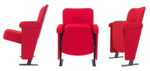 Evertaut's Orion Theatre Seating shown from 3 different angles
