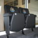 Newcastle United FC executive stadium seats with embroidered club badge on seat backs