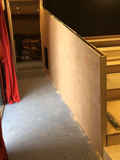 Formby Little Theatre installation of new tiered flooring