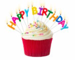 Birthday cake with Happy Birthday candles