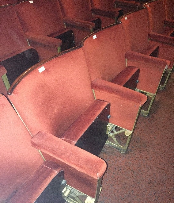 Seats in stalls at Blackpool Opera House before refurbishment