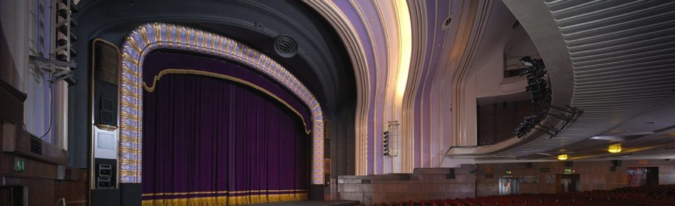 Auditorium and stage at Blackpool Opera House