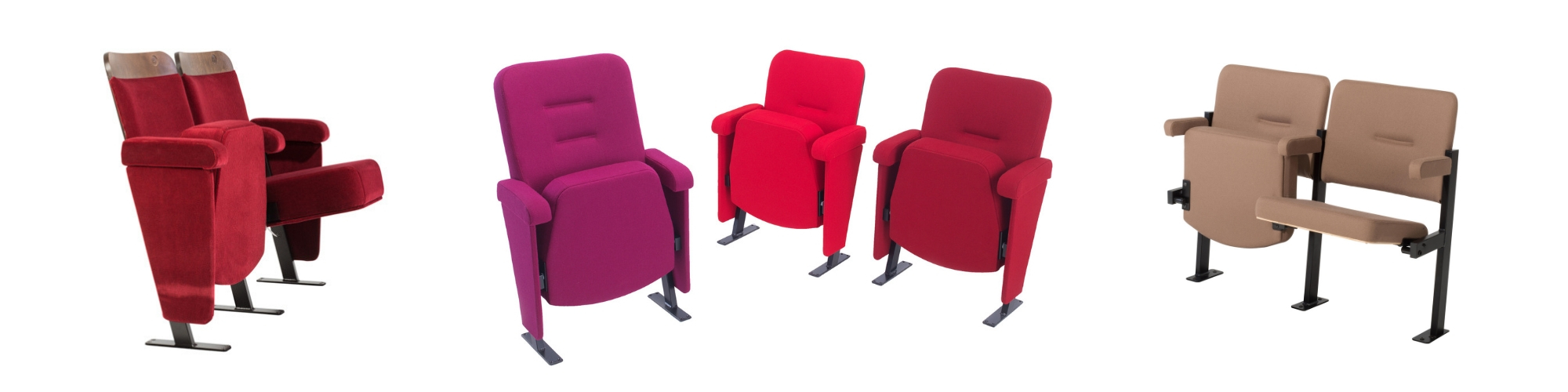 Theatre seating manufactured by Evertaut which can be bought through leasing