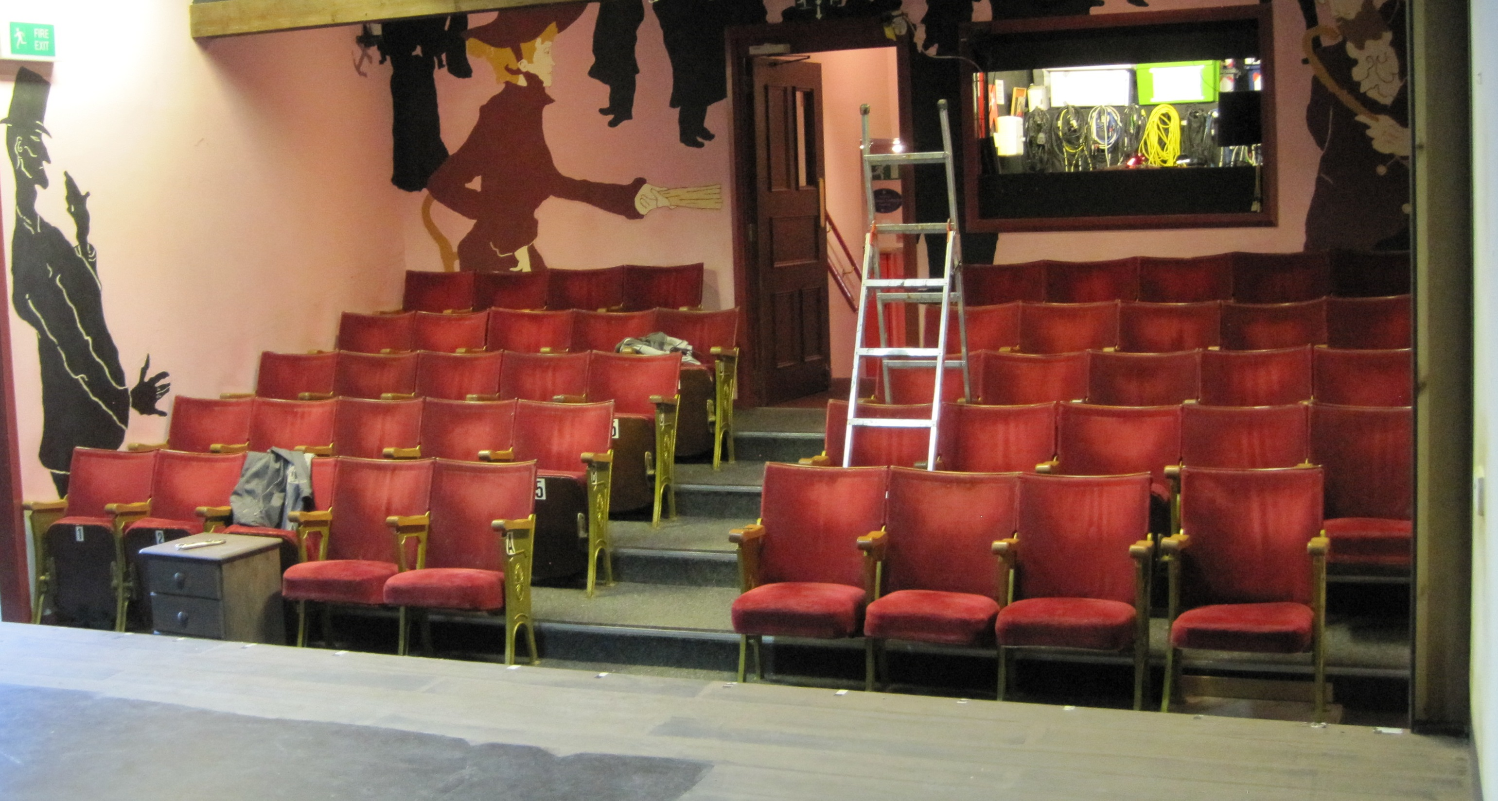 Auditorium at Dibble Tree Theatre before refurbishment