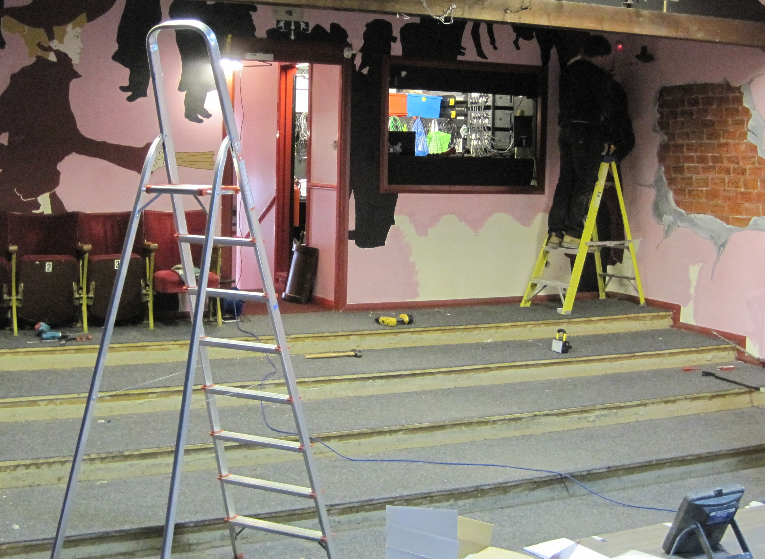 Auditorium at Dibble Tree Theatre during refurbishment once old seats removed