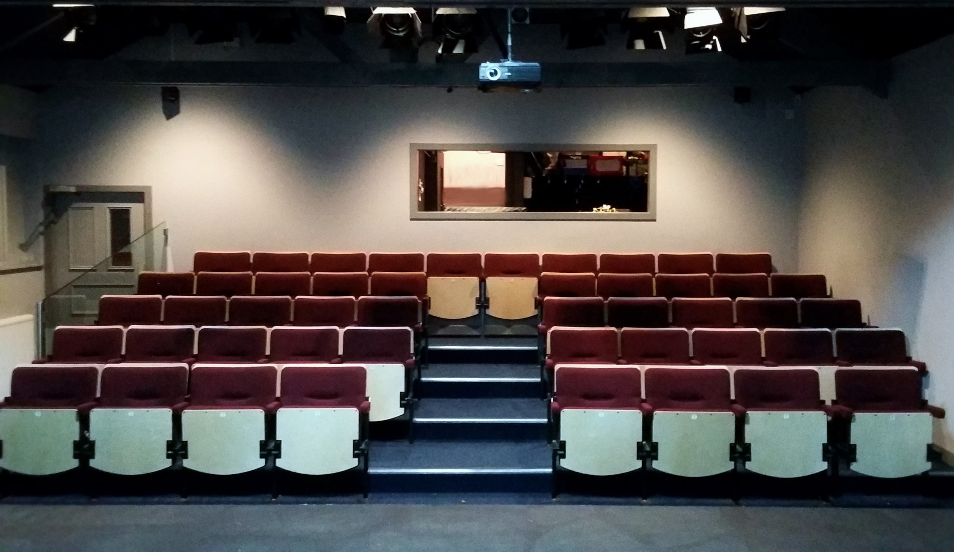 Auditorium at Dibble Tree Theatre after installation of new seating