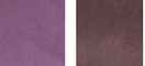 Sunbury Renov Velvet fabric swatches in 2 shades of purple