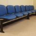 Row of Evertaut Dual beam seating in blue vinyl in doctors surgery waiting room