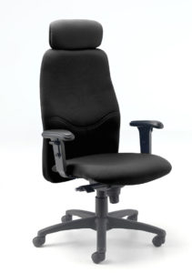 Evertaut Executive Boardroom Chair upholstered in black fabric