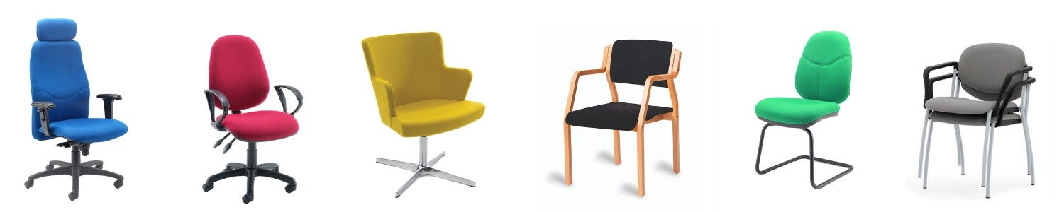 Range of different chair types suitable for use in a boardroom