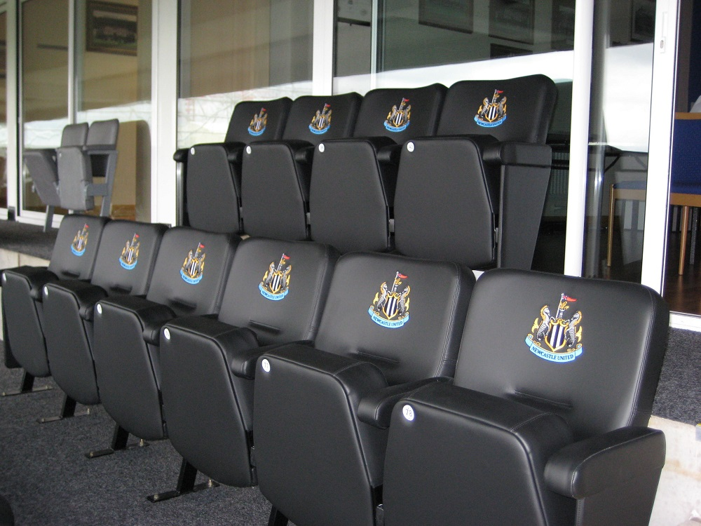 Evertaut VIP stadium seats in executive box at Newcastle Utd FC