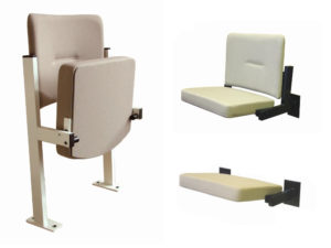 Floor fixed and wall mountable DDA seating range from Evertaut