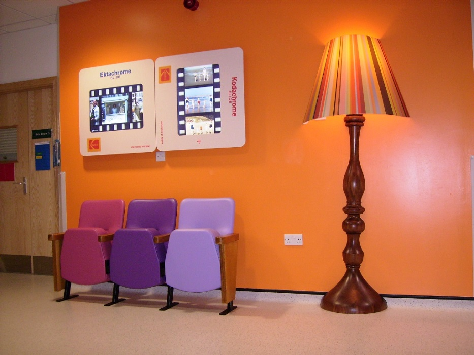 Evertaut Bradford Beam waiting room chairs in hospital corridor