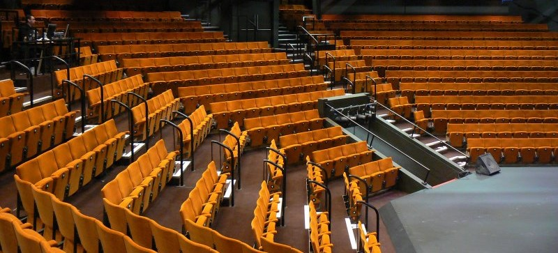 Fixed seating in listed building Crucible Theatre following refurbishment