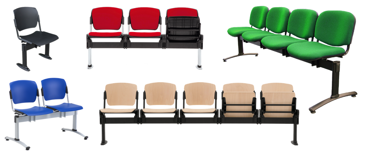 Range of beam seating waiting room chairs with 1, 2, 3, 4 and 5 seat places