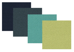 4 green fabric swatches from Camira Xtreme fabric range