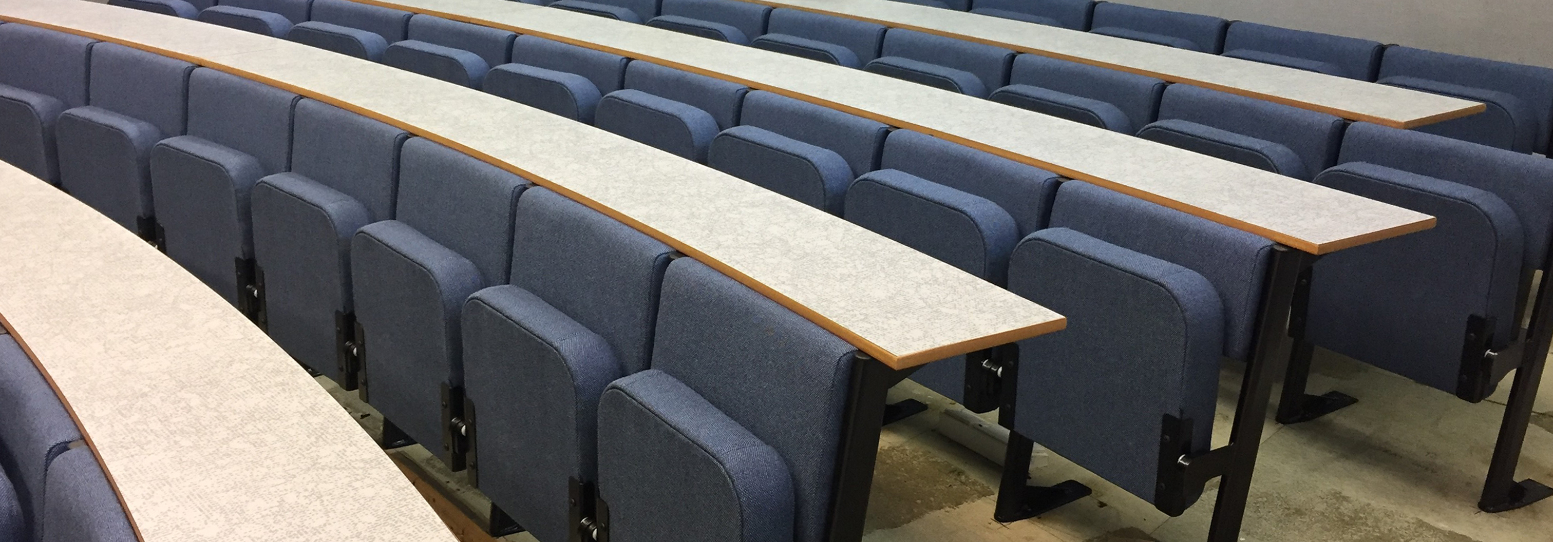 Evertaut Diploma lecture theatre seating upholstered in Tuscany
