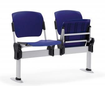 2-seat Sentinel Beam with plastic flip-up seats