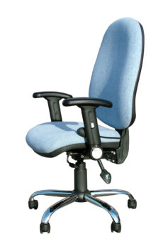 5103 high back operator chair with chrome base