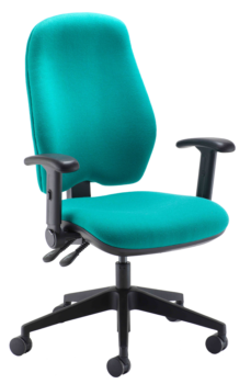 Heavy duty extra high back operator chair with arms