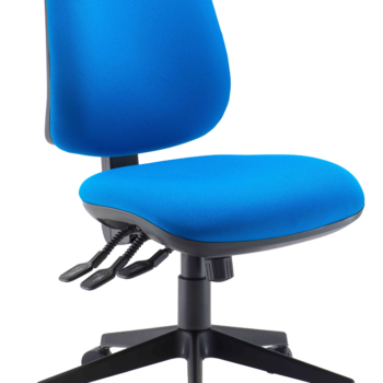Heavy duty mid back operator chair without arms