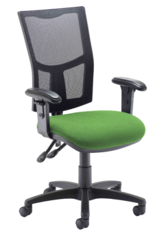 Evertaut Mesh Back Operator Chair with height adjustable arms