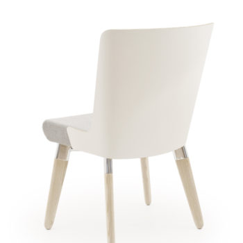 Skapa side chair with wooden outer panel