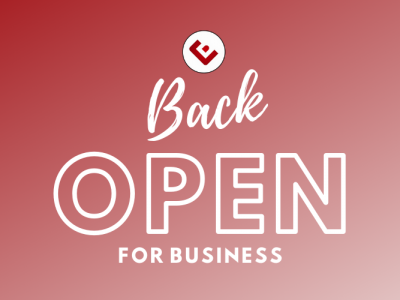 COVID-19 Update: Back Open For Business