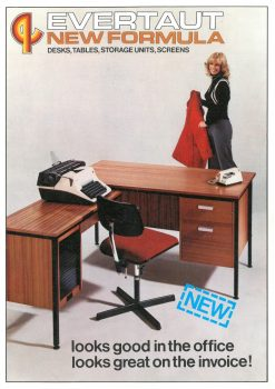 Front cover of Evertaut 1970s office furniture brochure